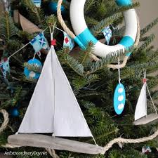 how to make easy sailboat christmas ornaments an extraordinary day