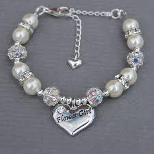 flower girl charm bracelet flower girl bracelet wedding jewelry gift for flower