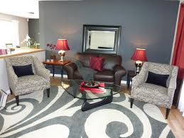 Dark Grey Accent Wall by Red Accent Wall Living Room Design Ideas For House Family Room