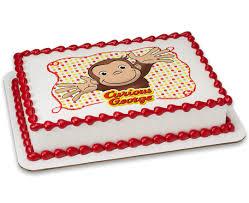 curious george cakes curious george let s celebrate photocake image cake cakes
