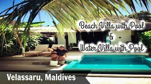 velassaru maldives beach villa with pool u0026 water villa with pool