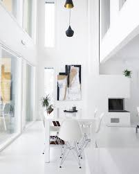 scandinavian interior design in white
