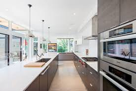 one wall kitchen with island designs modern kitchen with european cabinets by marvin windows and doors