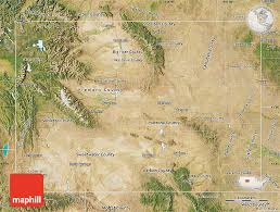map of wyoming satellite map of wyoming