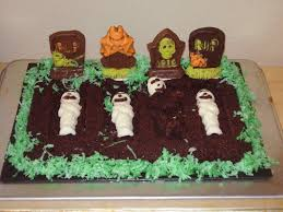 graveyard halloween cakes get your crap together 31 days of halloween brownie graveyard