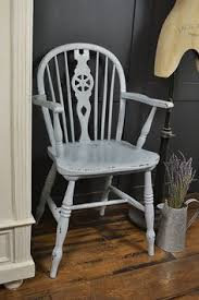 Shabby Chic Desk Chairs by Charming Antique Carver Chair With Upholstered Faux Leather Seat