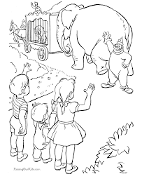 Circus Coloring Sheets And Pages Circus Coloring Page