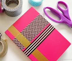 DIY How to Make a Book Cover or Notebook Cover for School