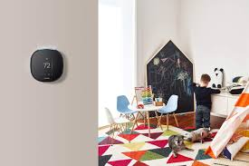 smart homes home security when on vacation nonagon style smart homes and home security ecobee3 lite thermostat in a colorful children s room nonagon
