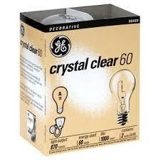 24 new ge 97490 24 60 watt crystal clear incandescent a19 light
