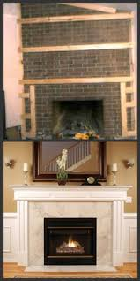 fireplace makeover with just paint and air stone coconut love