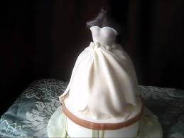 wedding dress cake youtube