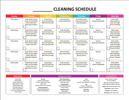 daily checklist for housekeeping