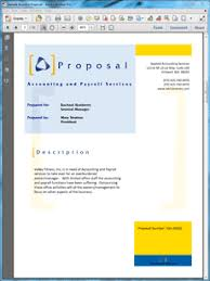 sample proposal for services accounting and payroll services proposal create your own custom