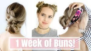 of the hairstyles images 1 week of bun hairstyles hair tutorial youtube