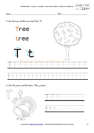 alphabet tracing worksheets how to write letter t