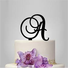letter wedding cake toppers monogram cake toppers unique wedding cake toppers vintage letter a