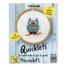mouseloft quicklets owl counted cross stitch kit bluewater 7 50