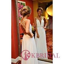 new arrival gold lace ivory wedding dress backless long prom dress