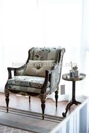 vintage style villa single sofa carved wooden living room arm