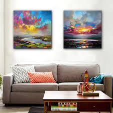 online get cheap clouds oil painting aliexpress com alibaba group free shipping hand painted oil painting color clouds at sea decoration painting set of 2 home decor modern wall prints
