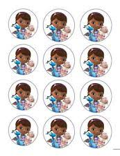 doc mcstuffins edible image birthday child doc mcstuffins party supply cake toppers ebay