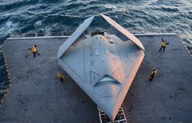 file u s sailors move a u s navy x 47b unmanned combat air