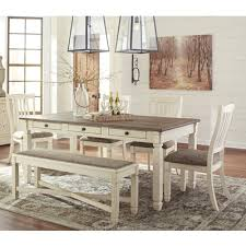 6 pc dining table set dining room dining room sets bolanburg d647 6 pc dining set at