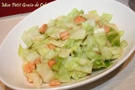 cuisiner le chou pointu poêlée de chou pointu à la sauce soja crevettes roses sucre cel