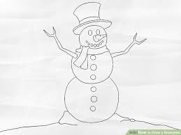 draw snowman 8 steps pictures wikihow