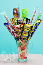 candy arrangements mixed chocolate sour candy mug bv4 candy bouquets vase