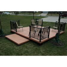 Udecx Home Depot by Modular Patio Deck Kits Deks And Tables Decoration