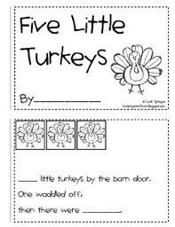 5 turkeys emergent reader free thanksgiving