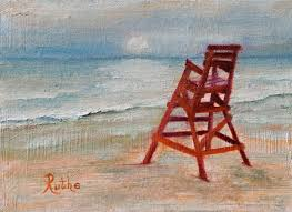 lifeguard chair painting by ruthe dawes