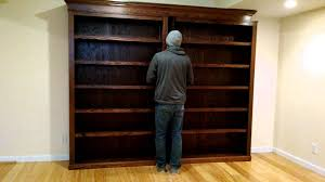 Batman Bookcase Sliding Bookcase Hidden Door Youtube