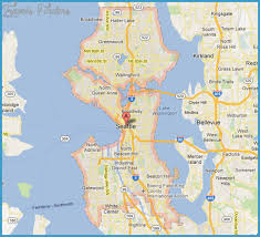 seattle map by county seattle map tourist attractions travelsfinders