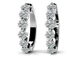 hoop diamond earrings design your own diamond hoop earrings