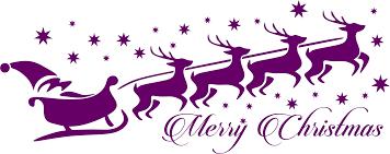 clipart santa reindeer typography
