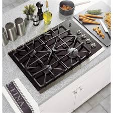 Best Glass Cooktop Profile Jgp940sekss 30 In Gas On Glass Cooktop Stainless Within Ge