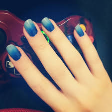 blue ombre nails youtube