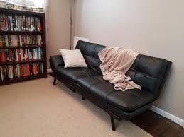 mainstays sofa sleeper mainstays memory foam futon multiple colors walmart com