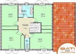 plan etage 4 chambres plan maison 4 chambres plan maison moderne d chambres with plan