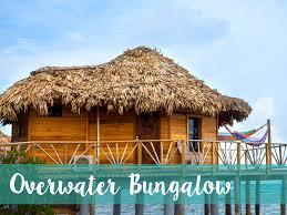 Tiki Hut On Water Vacation Belize Resort Thatch Caye Resort Private Island