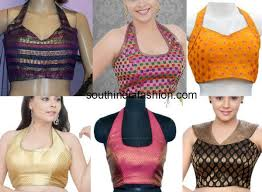 halter neck blouse trendy halter neck blouse design ideas to try out