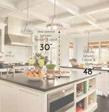 height of kitchen island kitchen island light height home design interior and exterior spirit