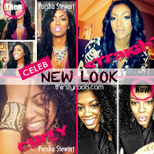porsha stewart natural real hair