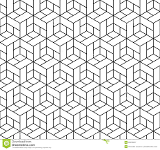 seamless geometric pattern with cubes royalty free stock