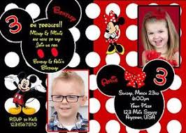 mickey mouse birthday invitation minnie mouse birthday