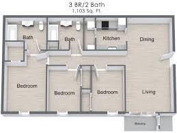 Floor Plan For 3 Bedroom Flat by 3 Bed 2 Bath Apartment In Gallatin Tn Villages Of Gallatin