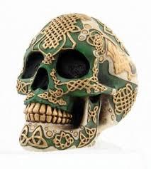 Celtic Skull - celtic skull paperweight